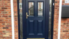 Black Front Door With Glass Panelling